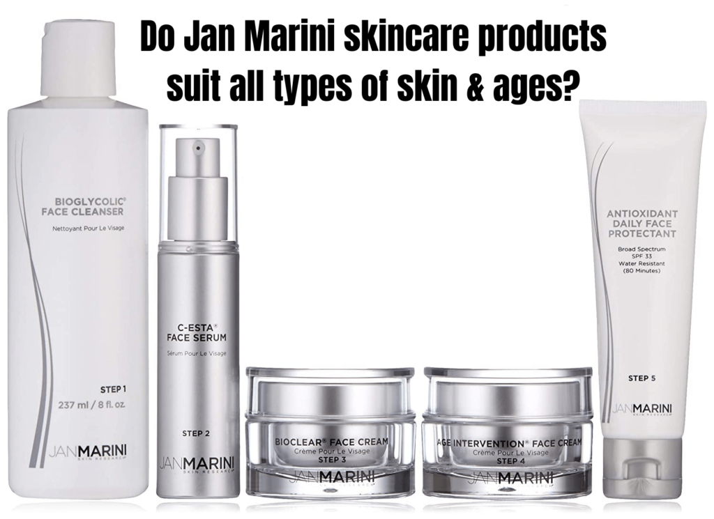 Do Jan Marini skincare products suit all types of skin & ages?