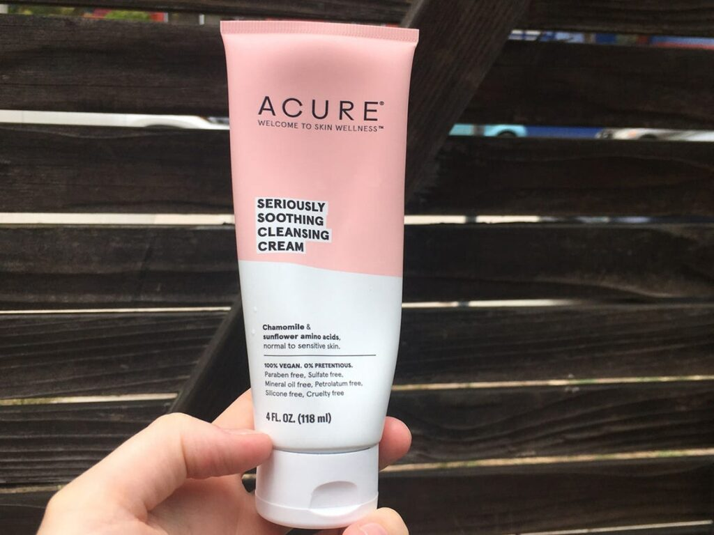acure soothing cleansing cream