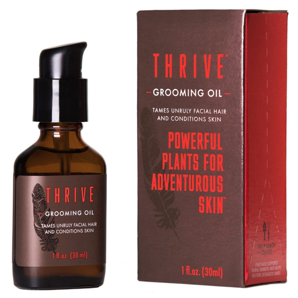 thrive skincare grooming oil