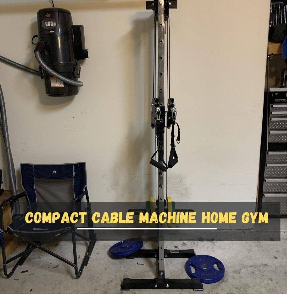 Compact Cable Machine Home Gym