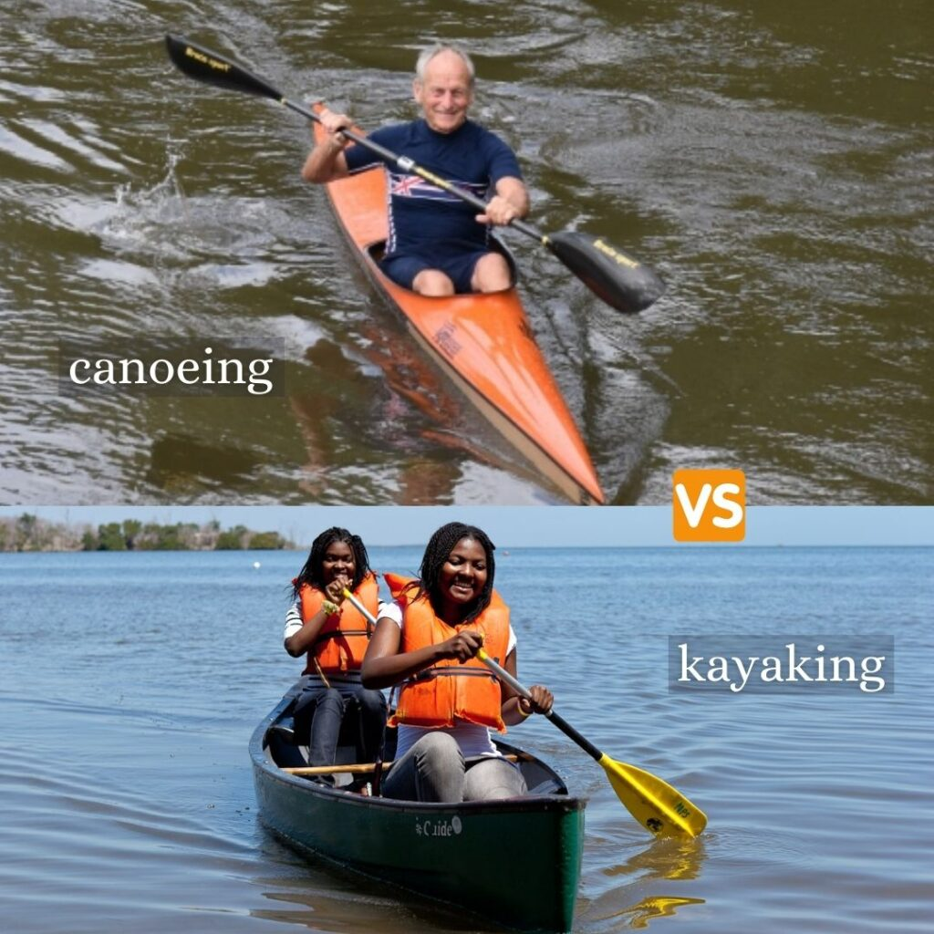 Difference between canoeing and kayaking