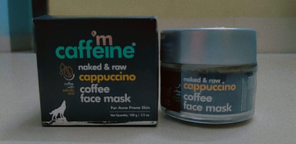 Cappuccino Coffee Face Mask with Salicylic Acid, Kaolin Clay   For Acne Prone Skin